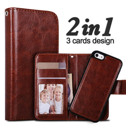 For iPhone 6 Case 2 in 1 Multifunction Detachable Card Slot Leather 6S 6 Plus 7