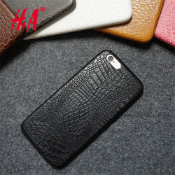 For iphone 6 6s Case Luxury Crocodile Snake Print Leather Cases Back Cover