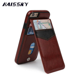 HAISSKY Leather Case For iPhone 7 Case 7 Plus iPhone 6 6s 6 plus luxury
