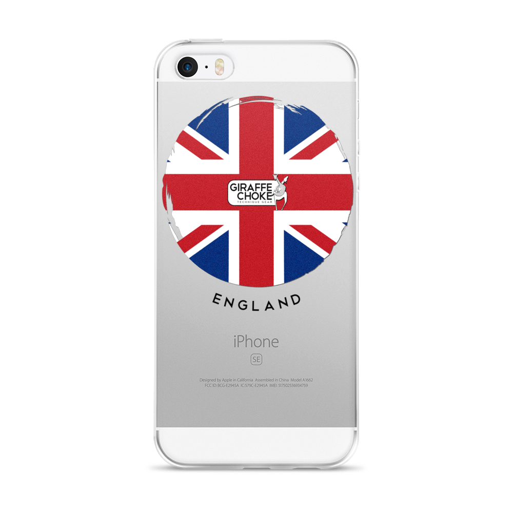 ENGLAND Giraffe Choke - iPhone 5/5s/Se, 6/6s, 6/6s Plus Case