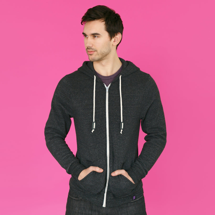 The Sidekick // Eco Fleece Zip Zup Hoodie