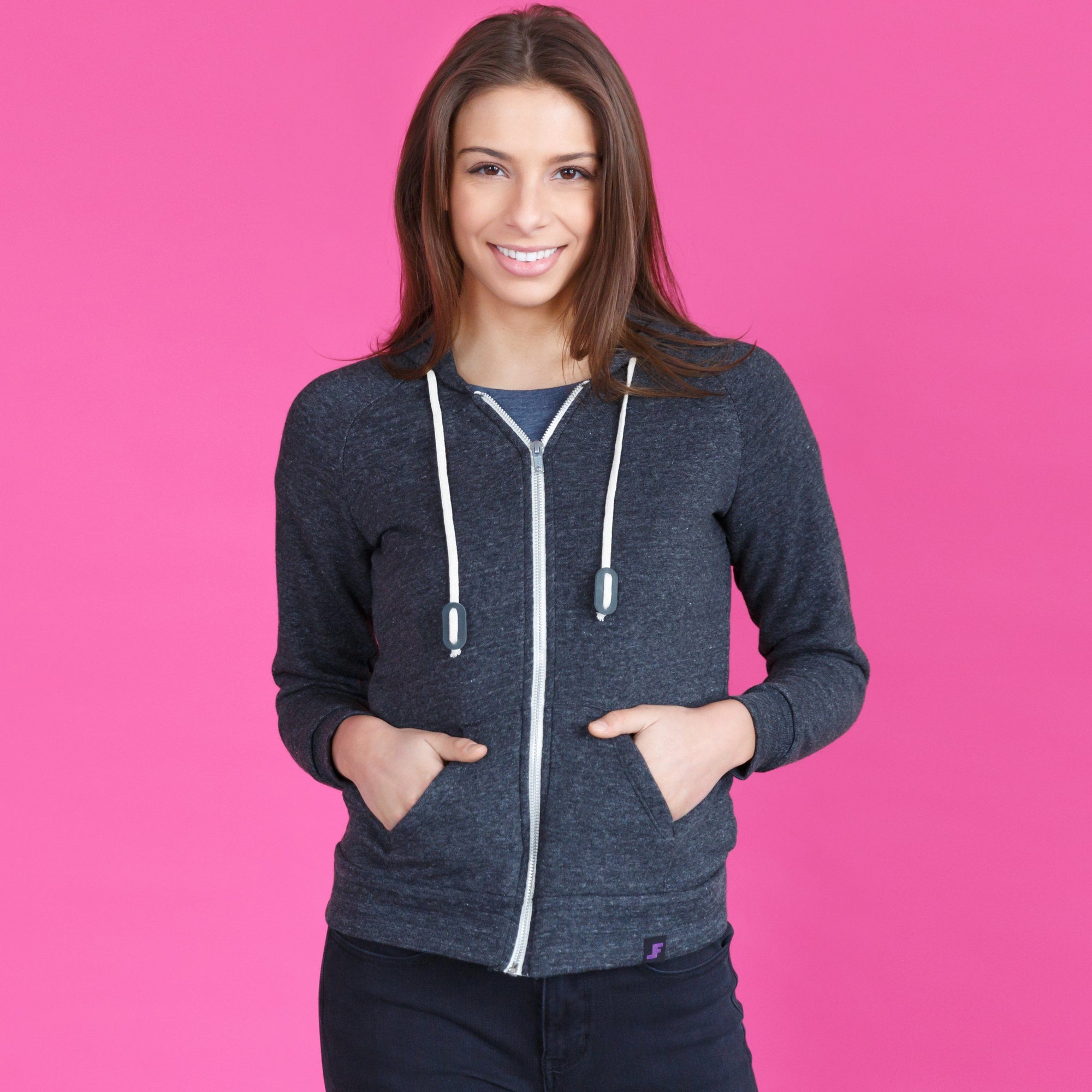 Women's Hoodies - The Sidekick // Eco Fleece Zip Zup Hoodie