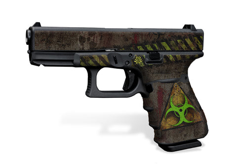 Glock 19 Gen 3 Decal Grip Graphics - Biohazard