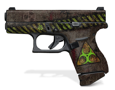 Glock 42 Decal Grip - Biohazard