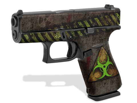 Glock 43X Decal Grip - Biohazard