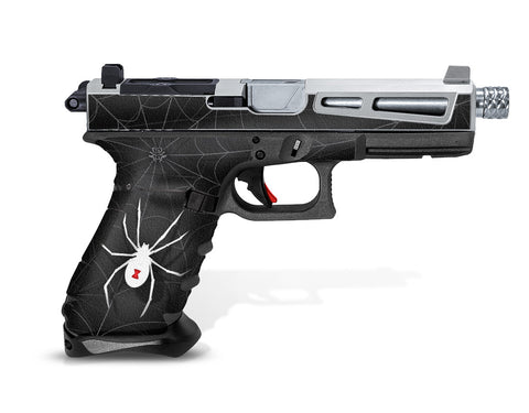 Glock 17 Gen 3 Decal Grip Graphics - Black Widow