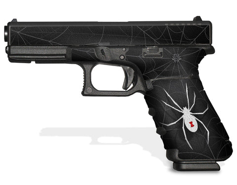 Glock 22 Gen 3 Decal Grip - Black Widow