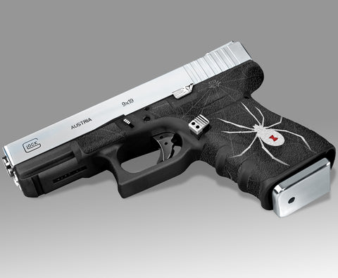 Glock 32 Gen 3 Decal Grip - Black Widow
