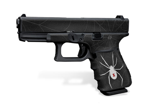 Glock 19 Gen3 Decal Grip Graphics - Black Widow