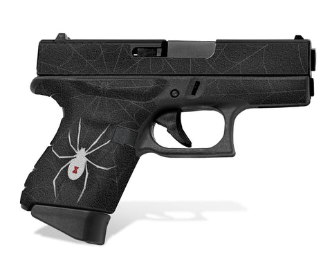 Glock 43 Tactical Grip Graphics - Black Widow