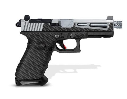 Glock 31 Grip-Tape Grips - Carbon Fiber