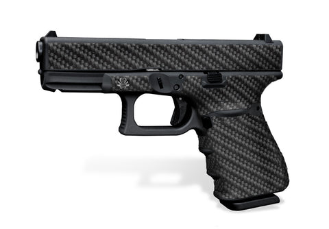 Glock 19 Gen3 Tactical Grip Graphics - Carbon Fiber