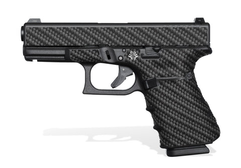 Glock 19 Gen4 Tactical Grip Graphics - Carbon Fiber