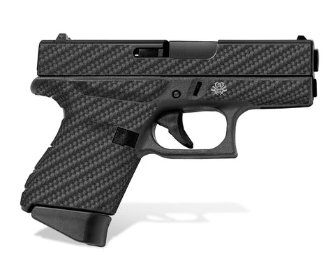 Glock 43 Decal Grip - Carbon Fiber