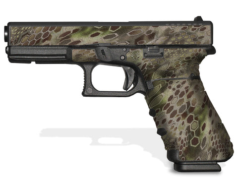 Glock 17 Gen 4 Decal Grip - Cryptic Camo