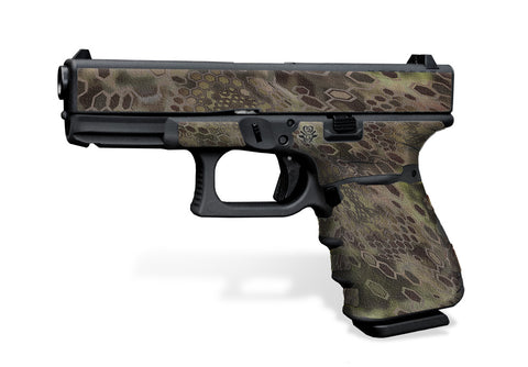Glock 19 Gen3 Tactical Grip Graphics - Cryptic Camo