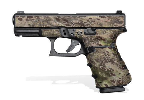 Glock 23 Gen4 Decal Grip - Cryptic Camo