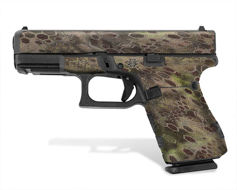 Glock 19 Gen 5 Decal Grip - Cryptic Camo