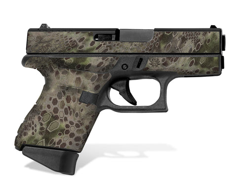 Glock 43 Tactical Grip Graphics - Cryptic Camo