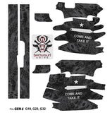 Glock 19 Gen4 Tactical Grip Graphics - Come and Take It