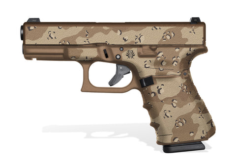 Glock 19 Gen4 Tactical Grip Graphics - Desert Camo