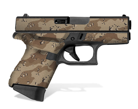 Glock 43 Tactical Grip Graphics - Desert Camo