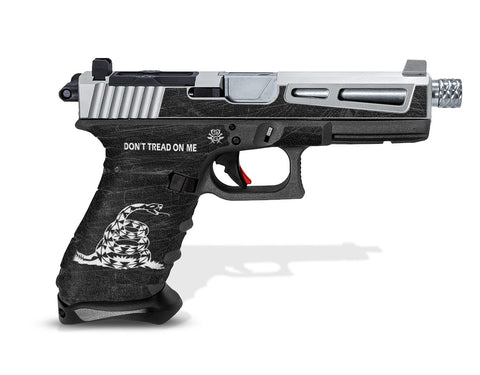 Glock 17 Gen3 Tactical Grip Graphics - Don't Tread on Me