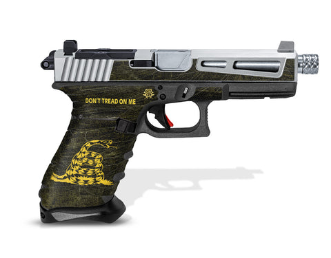 Glock 22 Gen3 Tactical Grip Graphics - Don't Tread on Me
