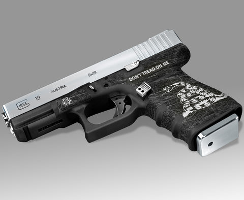 Glock 19 Gen3 Decal Grip - Don't Tread on Me
