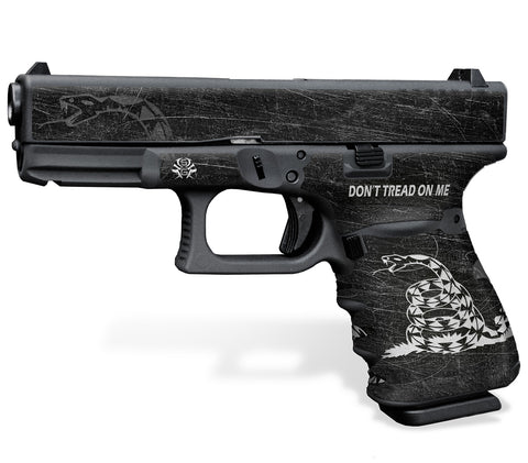Glock 32 Gen 3 Decal Grip - Don't Tread on Me