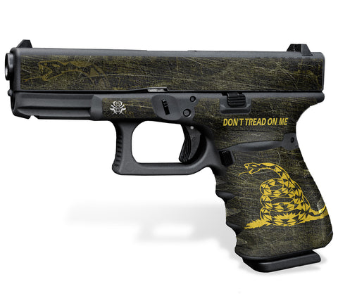 Glock 23 Gen3 Tactical Grip-Tape Graphics - Don't Tread on Me