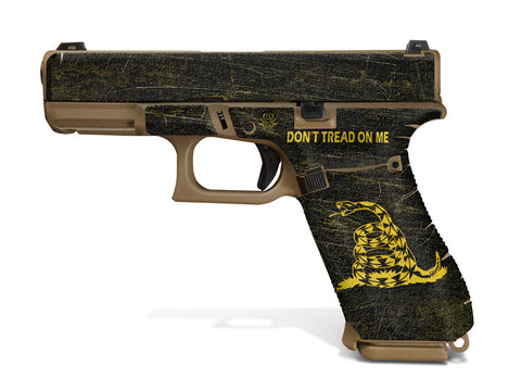 Glock 19X Decal Grip - Don't Tread On Me
