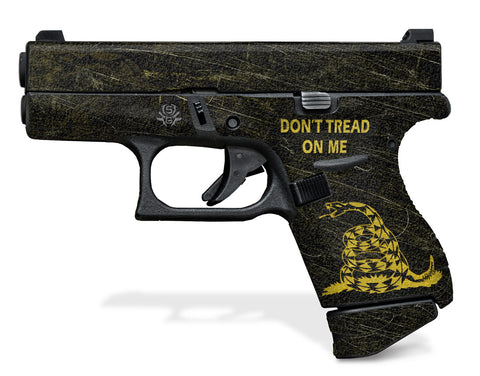 Glock 42 Decal Grip - Don't Tread On Me