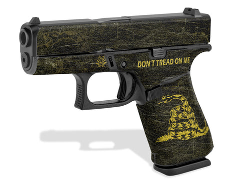 Glock 43X Decal Grip - Don't Tread On Me