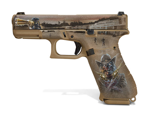 Glock 19X Decal Grip - Zombie Outlaw