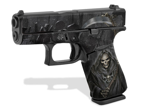 Glock 43X Decal Grip - Grim Reaper