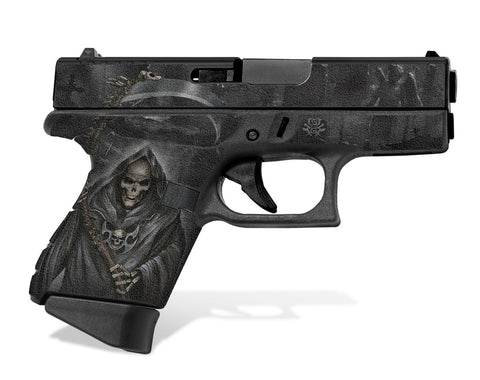 Glock 43 Tactical Grip Graphics - Grim Reaper
