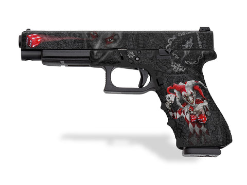 Glock 34 Decal Grip - The Joker by Invision Artworks