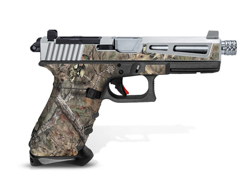 Glock 17 Gen 3 Decal Grip - Broken Oak Camo