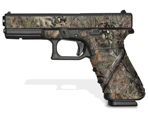 Glock 17 Gen 4 Decal Grip - Broken Oak Camo