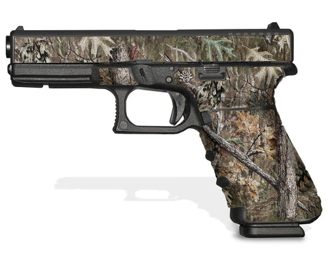 Glock 22 Gen 4 Decal Grip - Broken Oak Camo
