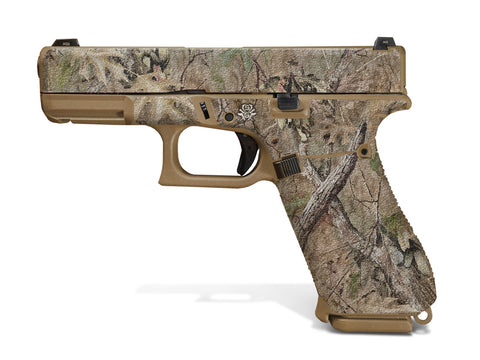 Glock 19X Decal Grip - Broken Oak