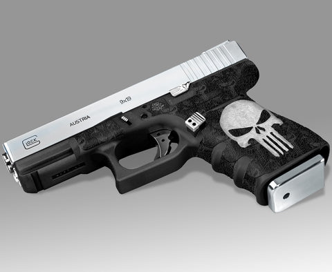 Glock 23 Gen 3 Decal Grip-Tape Grip - The Punisher