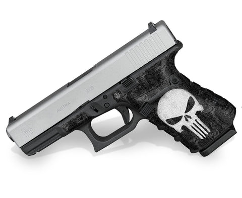 Glock 19 Gen 4 Decal Grip - The Punisher