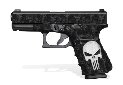 Glock 23 Gen 4 Grip-Tape Grips - The Punisher
