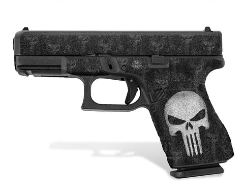 Glock 19 Gen 5 Decal Grip - The Punisher