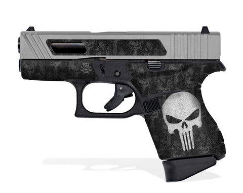Glock 43 Decal Grip - The Punisher