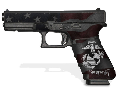 Glock 17 Gen3 Tactical Grip Graphics - Semper Fi