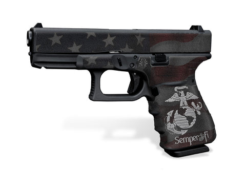 Glock 19 Gen3 Decal Grip - Semper Fi