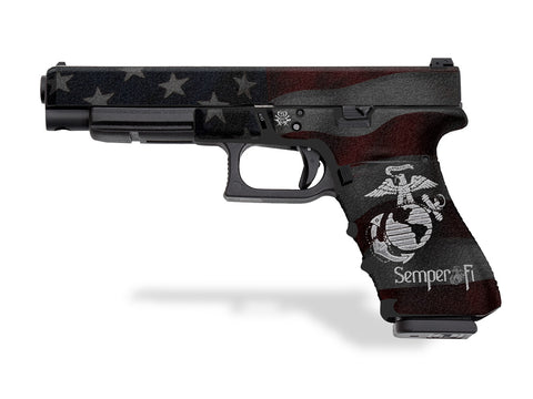 Glock 34 Decal Grip - Semper Fi
